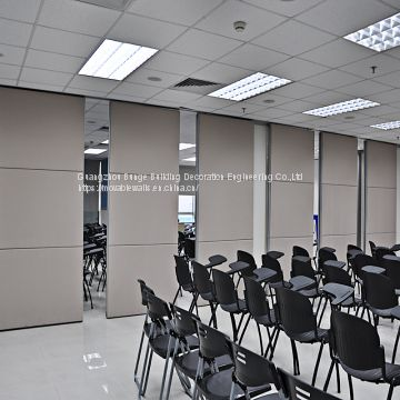 Commercial Hard Cover Acoustic Fabric Sliding Partition Doors Office Folding Partition Wall