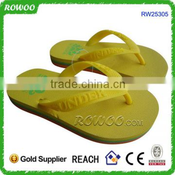 Child summer customized rubber slippers/kids slippers