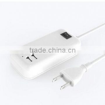 4 usb charger desktop socket 5V 30w USB CHARGER with AC cablle usa cable uk cable eu cable aus cable