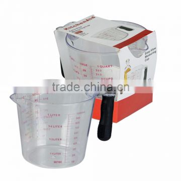 BSCI Passed Factory Hot 1000ml Food Grade Plastic Measuring Cup