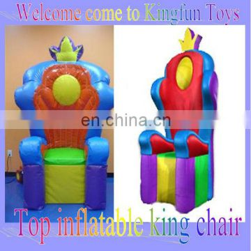 Hot inflatable king chair for kids