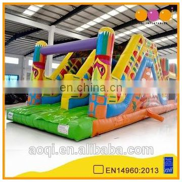 AOQI products EN14960 certificate colourful playground obstacle course for kids