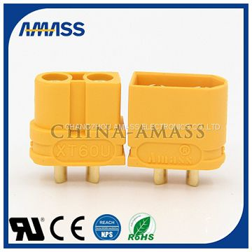 2pin connector,high voltage connectors XT60U,2pin connector from Amass China.