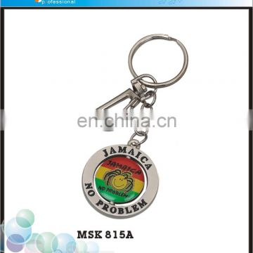 Excellent Jamaica Souvenirs Custom Made Shaped Metal Spinning Keychains