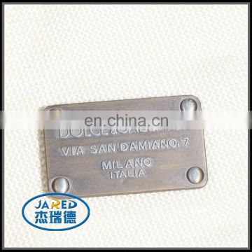 high quality hot metal badge nameplate