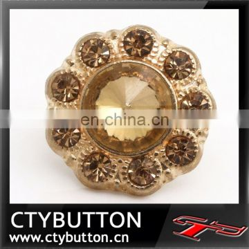 CTY-RB127(b) luxury design rhinestone buttons with high quality