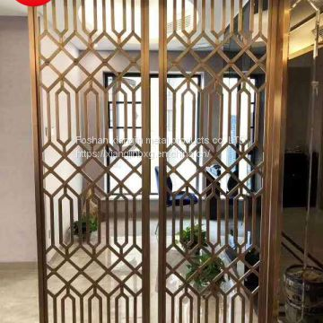 JYFQ0148 Europe style interior decoration laser cut metal room screen divider