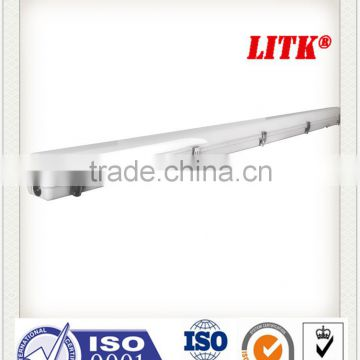 125lm/w IP65 IK10 tri-proof led light, len lienar low bay. germany PC material with high efficacy
