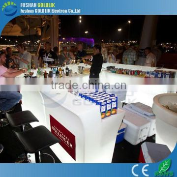 GLACS Control Club Furniture Cool Bar Table Furniture Colorful Fancy LED Bar Counter