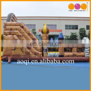 2017 China inflatable slide children outdoor playground big inflatable Egypt tour obstacle slide for sale