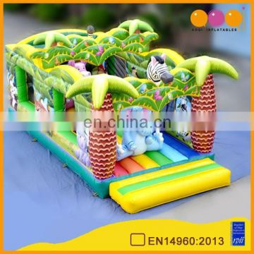 AOQI excellent quality factory price commercial use safari inflatable bouncer from China