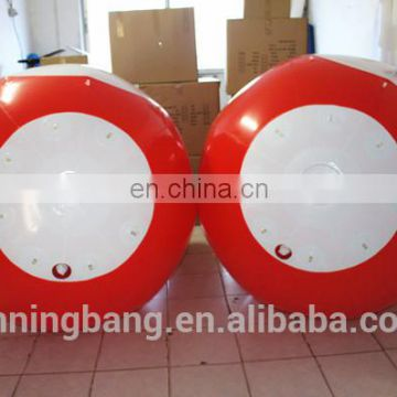 Red color China factory supply inflatable floating water park games buoy