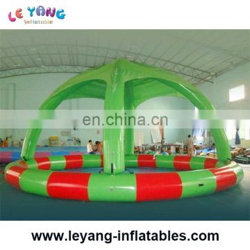Hot sell Durable Family rectangular Inflatable Swimming Pool with arch