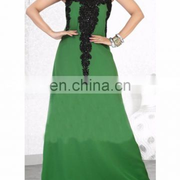 Beautiful Graceful Green Color Faux Georgette Fashionable kaftan for women