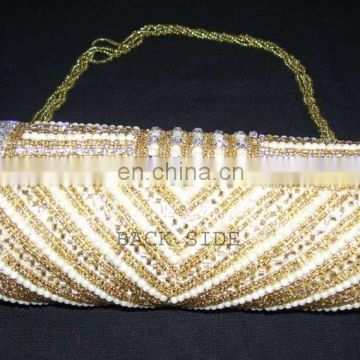 PEARL BEADS CUTCH PURSE WITH ZIRCON