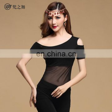 S-3090 Short sleeve Hot sexy modal belly dance top clothes