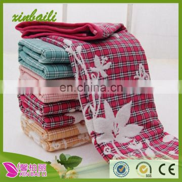 gaoyang towels new product double cloth face towels 100% cotton pillow towels