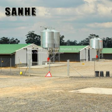 Prefabricated Design Cheap Prefab Steel Structure Chicken House Structures Building