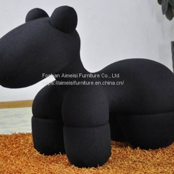 Hot selling Popular living room Children Fiberglass Puppy Pony Chair