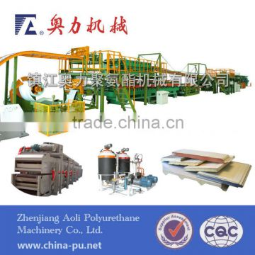 Polyurethane panel production line