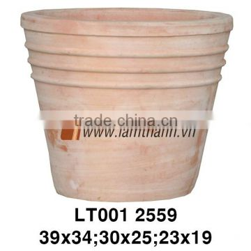 East Asia Decorative Curved Classic White Wash Flower Pot