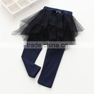 S60651B Baby Girl Culottes Leggings Gauze Pants Party Skirts bowknot Tutu Skirts