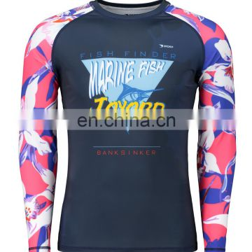 Custom lycra fabric sublimated rashgard china rash guard manufacturer