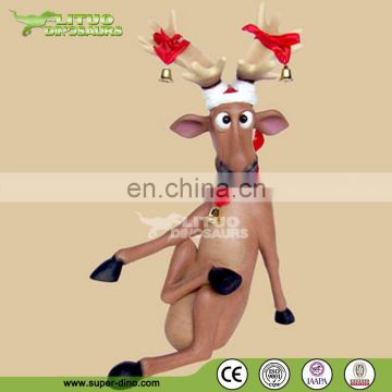 Fiberglass Reindeer Statue Animated Christmas Decorations
