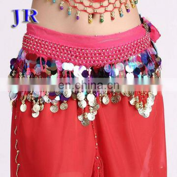 Cheap sequins belly dance hip scarf for women Y-2009#