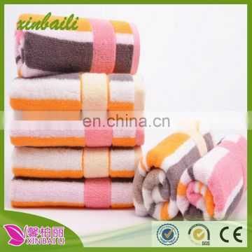 wholesale 36 * 90 stripes bath towel yarn dyed cotton face towel