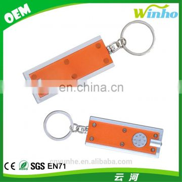 Winho cheap promotional gifts led flat flashlight keychain