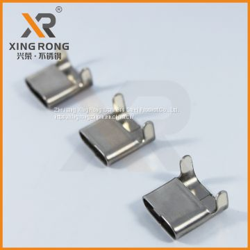 L type Stainless steel Buckle 8mm for steel banding
