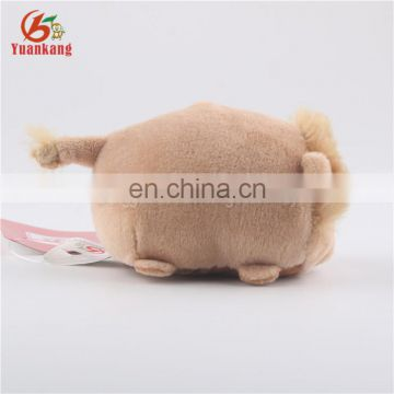 Mini 8cm stuffed plush lion toy keychain