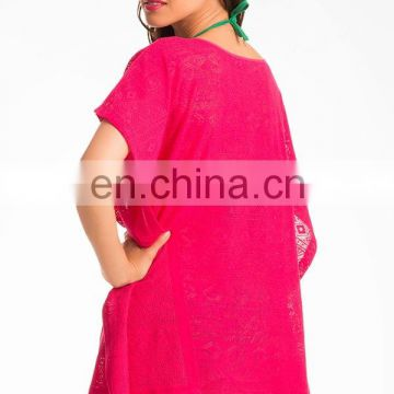 Flirty Fuchsia Sarong Cover-Up