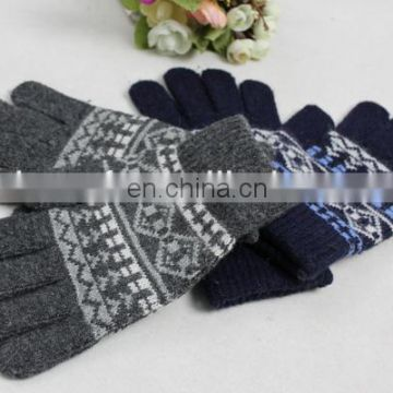 acrylic knitted gloves 2014 men women knitted gloves mittens