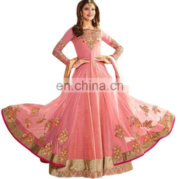 2017 Party Wear Anarkali Style Dress Material / Wedding Wear Semi-Stitched Anarkali Suits (anarkali dresses)