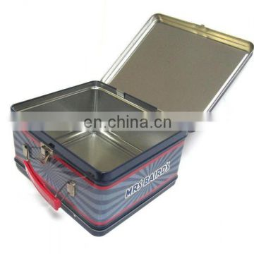Hot sale custom tin lunch box with padlock
