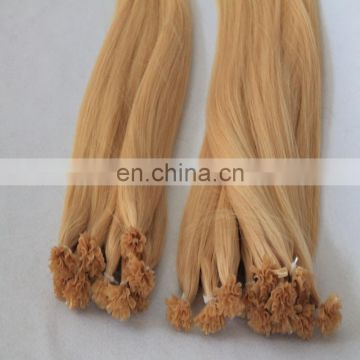 Top quality blonde color U/nail tip human hair extensions remy virgin brazilian human hair extensions factory supply