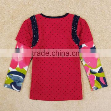 (F5379Y) 2-6y fresh stock frozen t shirts baby girls elsa anna autumn blouse frozen t-shirt with long sleeve nova kids