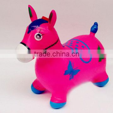bule red pink green orange Inflatable Animal Toy and PVC Plastic Type jumping toy horse with music