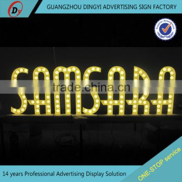 2016 Hot selling front-lit outdoor led sign/small metal letters for crafts