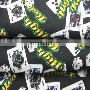 100% cotton knit printed fabric fashion