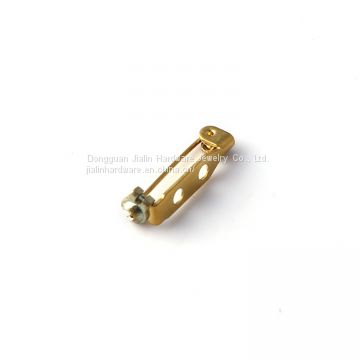 20mm gold plated badge accessory brass safety pin clip used for making name tags,emblems and lapel