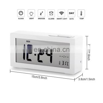 High Quality Piano Smart Alarm Clock Digital LCD Backlight with Calendar and Temperature