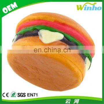 Winho Promotinal PU Foam Hamburger Shape Anti Stress Ball