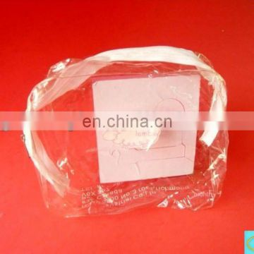 pvc pocket for cosmetic packing bag clear pocket with nylon zipper
