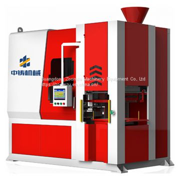Automatic horizontal flaskless shooting and squeezing green sand casting moulding equipment for making reducer housing