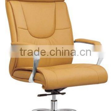 Rotating genuine leather executive chair