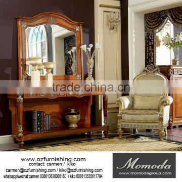 YB29 Luxury French Louis XV Style Goldleaf Console Table U0026 Mirror/ Deluxe  Hallway Golden Wood ...