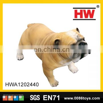 Hot selling 9inch bulldog feature animal model plastic vinyl toy mol